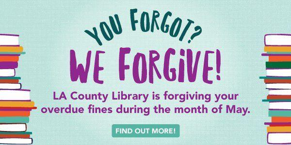 Library Forgive a Book Fine