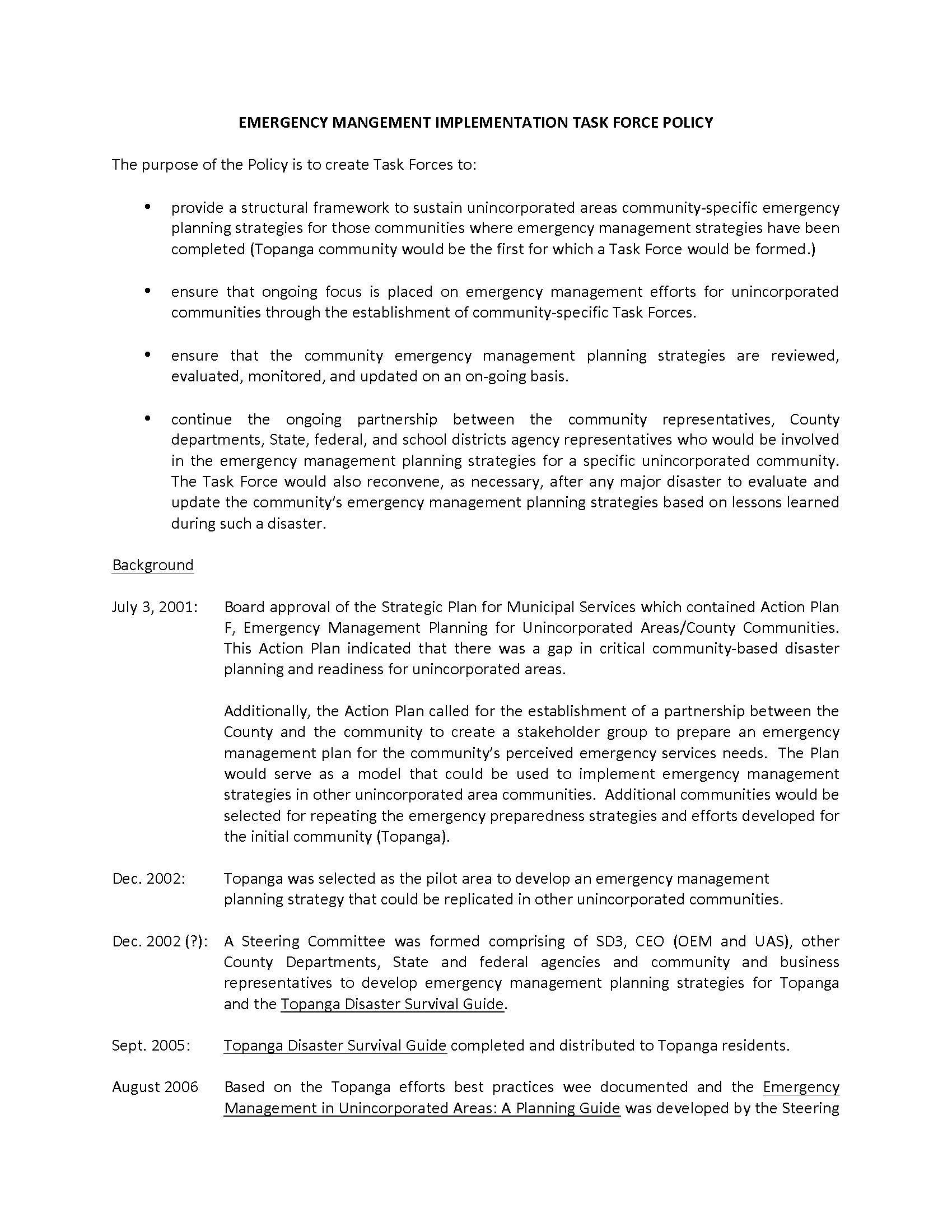 TEMP Outline of Policy Page 1